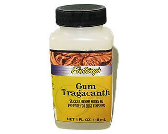 Fiebing's Gum Tragacanth for Edge Burnishing and Finishing - 4 oz