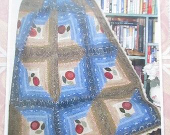 CLEARANCE-Prairie Log Cabin quilt pattern, Fiddle-Dee-Dee-Designs