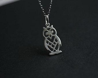 Beautiful Silver Owl necklace - Tiny Owl Necklace - Silver Owl necklace - Silver Filigree owl necklace -  Owl Jewellery - Animal Jewelry