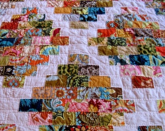 quilts made custom and black patchwork modern to shop n handmade order pink quilt