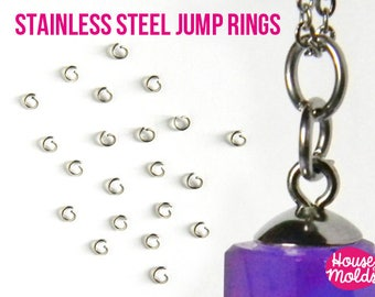 Stainless Steel Jump Rings -very resistant and quickly link your pendant with necklace
