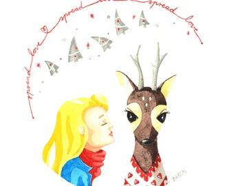 Greeting card - Spread love