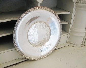 Vintage Rogers Silver Tray, Meadowbrook, Wm A Rogers Serving Platter