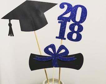 Graduation party decorations 2018 , Centerpiece Sticks 2018, Grad, Cap, Diploma, Graduation decorations, class of 2018, prom 2018