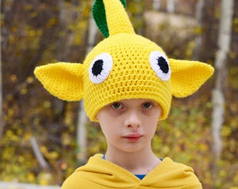Yellow Pikmin Hat, 2T - Adult, Crochet By Allie