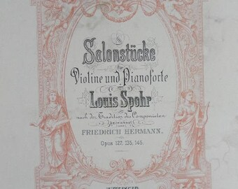 SPOHR Barcarole Opus 135 No 1 for violin and piano - Editions Peters No 2499 (ref no 131)