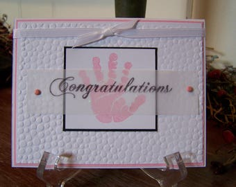 New Baby Girl Congratulations Greeting Card