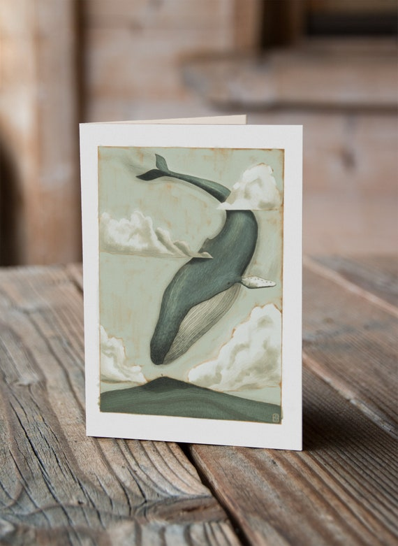 Sky Whale IV - Greetings Card