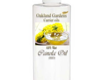 Canola RBD - CARRIER OIL - 100% Pure For Diluting Essential Oil - great moisturizer, and is easily absorbed into the skin
