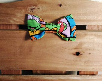 Ninja turtle bow tie self tie green child green cotton ninja turtle bow tie ccuart Image collections