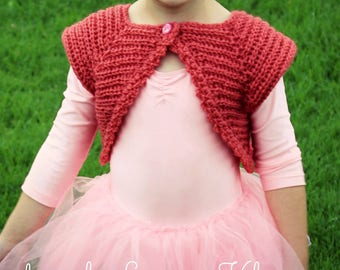 Download Now - CROCHET PATTERN Prima Ballerina Bolero - Sizes 0-6 mos to 12 years - Pattern PDF