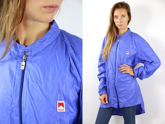 Blue Marlboro Jacket Marlboro Festival Jacket Rain Jacket Windbreaker Shell Jacket Festival Marlboro Raincoat Blue Windbreaker 90s Jacket