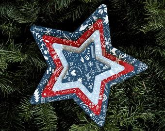 Christmas stars in cardboard