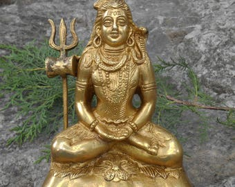 "6.4"" HIMALAYAN 8 Metal Alloy SHIVA Statue from Himachal Pradesh - India. Blessed & Initiated."