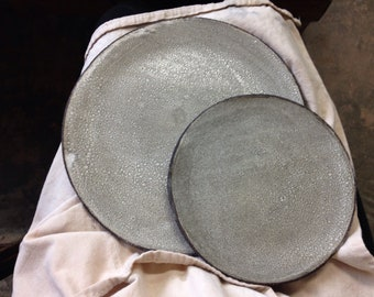 Grey white stoneware ceramic starter dessert side plate