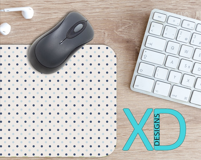 Mixed Blues Mouse Pad, Mixed Blues Mousepad, Dotted Rectangle Mouse Pad, Blue, Dotted Circle Mouse Pad, Mixed Blues Mat, Computer, Spots