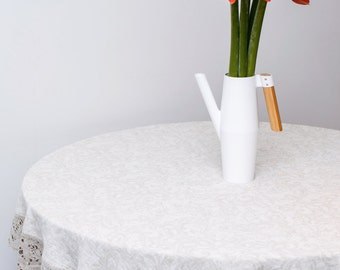 Linen tablecloth, Round linen tablecloth, Linen tablecloth round, Flax tablecloth, Dining linen tablecloth, Linen round tablecloth