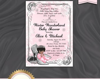 Winter wonderland baby shower invitations Etsy