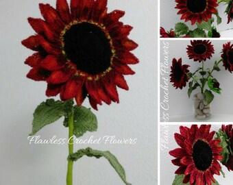 Crochet Flower Velvet Queen Sunflower, Crochet Flower Pattern