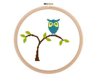 Owl - Cross stitch pattern PDF, Owl Cross Stitch Chart, Owls Cross Stitch Pattern, Birds Pattern, Birds Cross Stitch, Owls Pattern