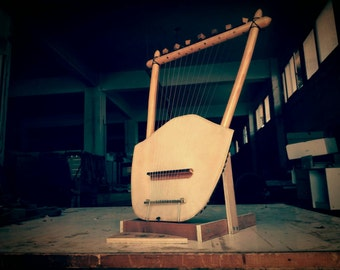 Lyre of Ares (God of War) - The Epic Lyre of War - Ancient Greek Lyre (Chelys - 13 strings) - Top Quality HandCrafted Musical Instrument