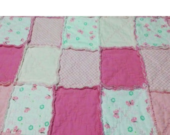 Pink Baby Quilt- Hand Made