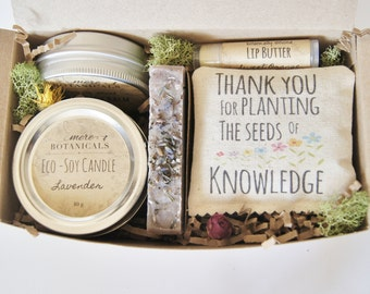 Teacher /Mentor Gift Set - Botanically Infused Natural Body Care with Scented Sachet 6 pc. Deluxe Set
