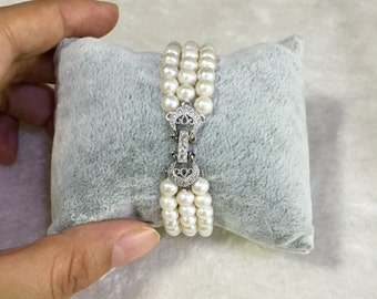 pearl Bridal Jewelry bracelet, pearl Wedding Jewelry bracelet, Bridal bracelet, pearl bracelet, cuff bracelet, Swarovski pearls and crystals