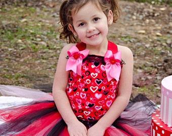 Kylie Valentine's day corset tutu birthday pageant dress 12m 18m 2t 3t 4t 5t 6