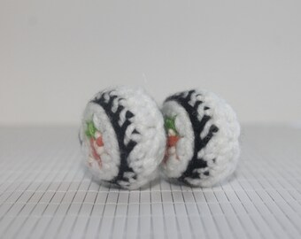 Amigurumi Crochet Sushi- California Roll