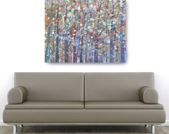 Autumn Abstract, African American Art, Canvas Art, Canvas Wall Art,Home Decor Art, Canvas Painting,Abstract Art, Wall Art