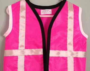 hot pink construction worker costume vest