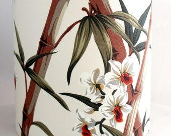 bamboo lampshade,barkcloth medium lampshade,retro shade