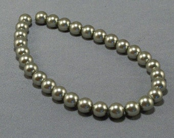 Silver Tone Glass Beads // Large // Jewelry Making // Beading Supplies