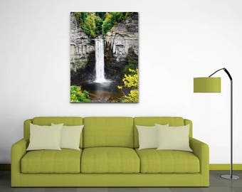Waterfall Canvas Art, Wall Art Canvas, Taughannock Falls Waterfall Landscape, Fine Art Canvas Print, Waterfall Photography, Ithaca New York