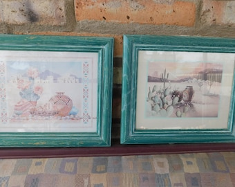 Pair of Southwest Prints, Framed, Numbered, Native American