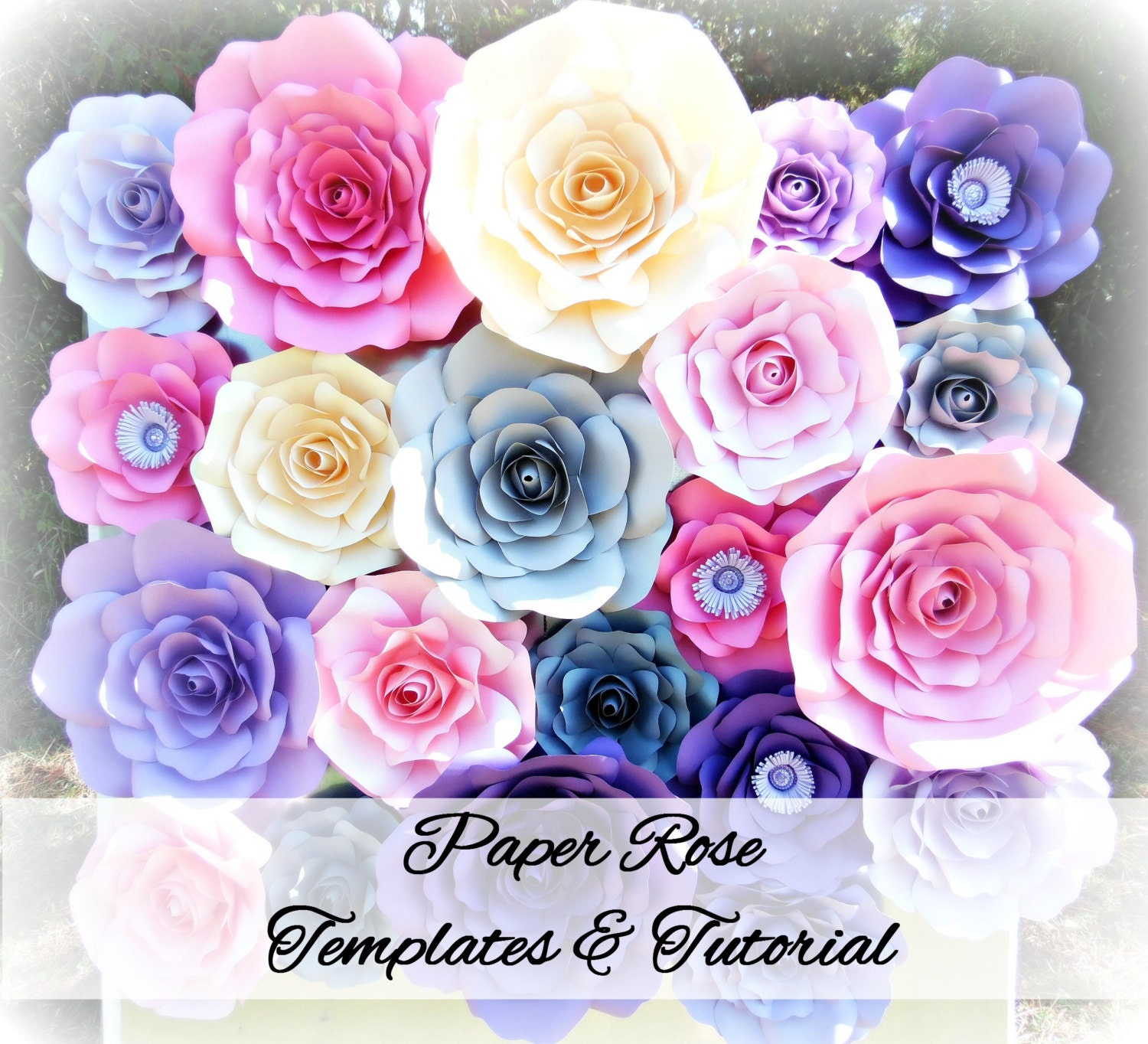 Diy Giant Rose Templates Paper Rose Patterns Tutorials Paper