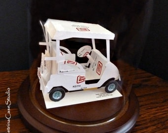 Golf Cart Business Card Sculpture -Any Theme, Hobby, Sport or Profession Made in USA -NO 8923