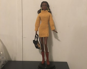 Barbie Sweater Dress - Handmade - Crochet