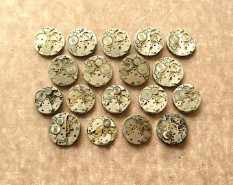18-20 mm Watch Movements, Small Watch Movements, Steampunk Supplies, Watch Movements For Parts, Antique Watch Parts, Old Watch Supplies