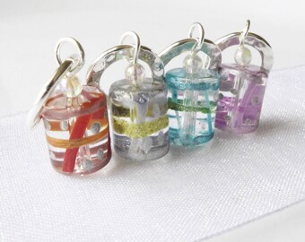 Little Drummer Boy - Four Handmade Stitch Markers - Fits Up To 6.5mm (10.5 US) - Last Sets