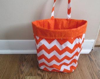 Orange Chevron Car Trash Bag, Car Organizer, Nursery Caddy