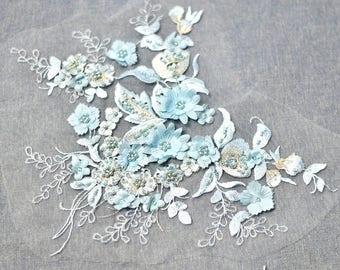 Lace applique/Lace Wedding Dress/Boho Wedding Dress/Bridal applique/Evening Gown/Prom Dress Applique price per piece/ALA-45
