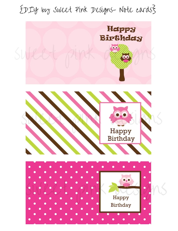 Mini birthday cards printable note cards like this item bookmarktalkfo Images