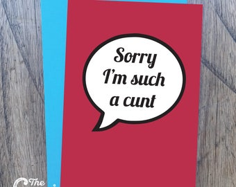 Rude and funny sorry card