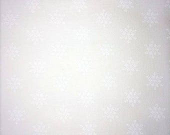Sugar Plum Christmas White on White Snowflakes  2917 12 by Bunny Hill for Moda