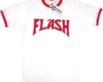 Flash Gordon Freddie Mercury Queen Retro 80's Fancy Dress T Shirt White S to XXL