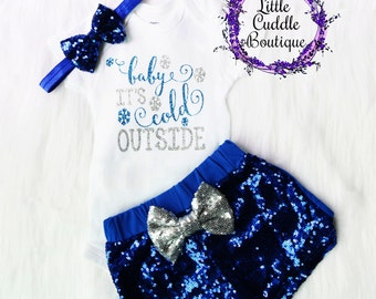 Christmas Baby Girl Outfit, Holiday Outfit, Baby It's Cold Outside, First Christmas Outfit, Christmas Outfit, Holiday Party, Holiday Photos