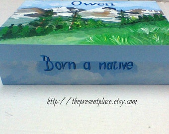 keepsake box for boys,Denver,Colorado box, box for sports fan,Colorado mountains,Colorado baby boy,boys keepsake box,kids box,children s box