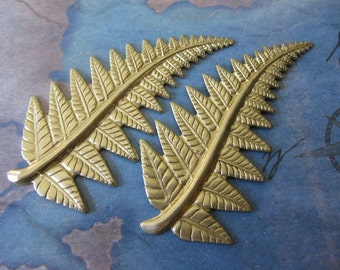 2 PC Brass Fern Frond Stem - NN10